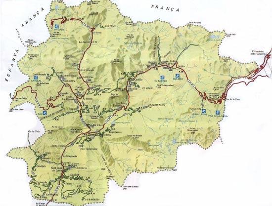 Andorre   Carte géographique