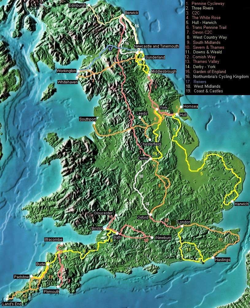 Carte Dangleterre.Angleterre Carte Du Relief