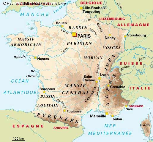 carte geographique de la france - Photo