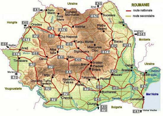 Carte Roumanie Villes.Roumanie Carte Des Villes Et Routes